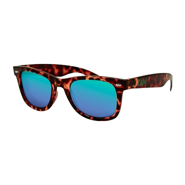 Winna Tortoise Sunglasses Smoked Green Mirror Lens
