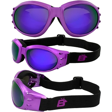 Eagle Purple Vented Goggles with Mirror Lenses