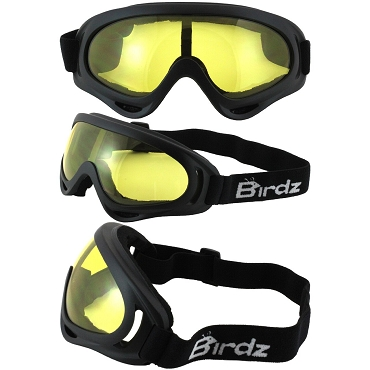 FlyCatcher Foam Padded Goggles Yellow Lenses