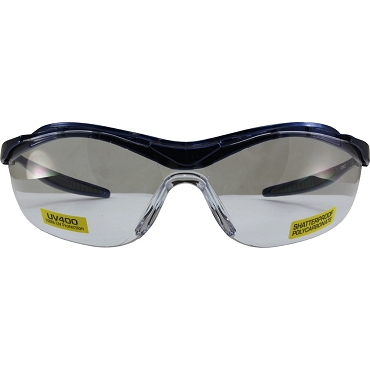 Force Safety Glasses Blue Frame Clear Lenses