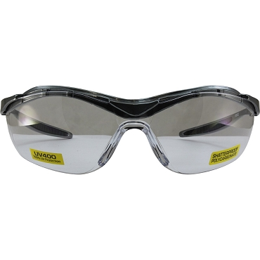 Force Safety Glasses Gray Frame Clear Lenses