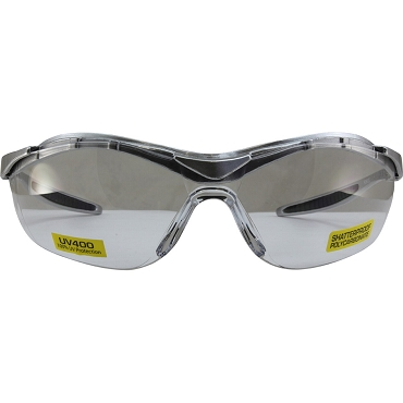 Force Safety Glasses Silver Frame Clear Lenses