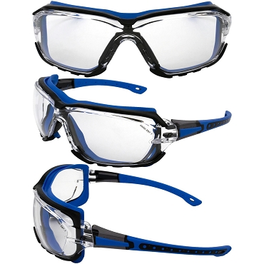 Gasket Blue Foam Padded Sunglasses Clear Lenses