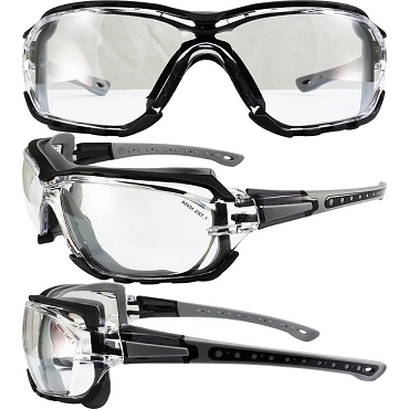 Gasket Foam Padded Safety Glasses Clear Lenses