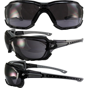 Gasket Foam Padded Safety Glasses Smoke Lenses