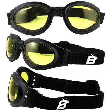 Parrot Vented Folding Goggles Yellow Lenses