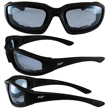 Universal Fit Motorcycle Sunglasses Blue Lenses
