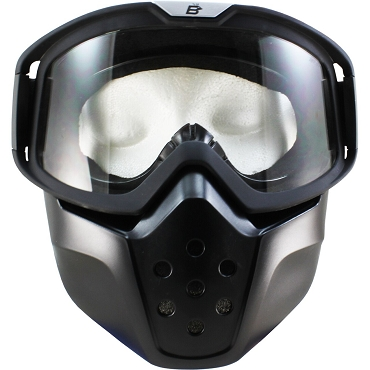 Clear Motorcycle Goggles with Removable Face Mask