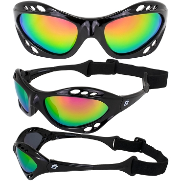 Seahawk Black Sunglasses Goggles Green Lenses