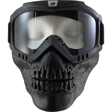 Clear Goggles with Removable Skull Face Mask