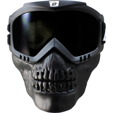 Smoke Goggles with Removable Skull Face Mask