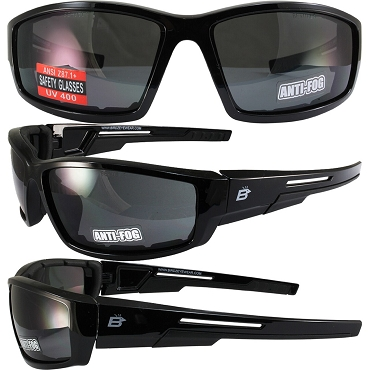 Swoop ANSI Foam Padded Biker Sunglasses Smoke Lenses