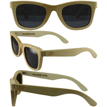 Woodpecker Wood Sunglasses Smoke Lenses