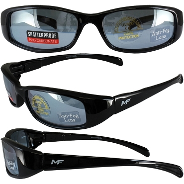 Low Profile Motorcycle Sunglasses Blue Lenses