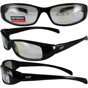 Low Profile Motorcycle Sunglasses Clear Lenses