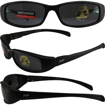 Low Profile Motorcycle Sunglasses Dark Lenses