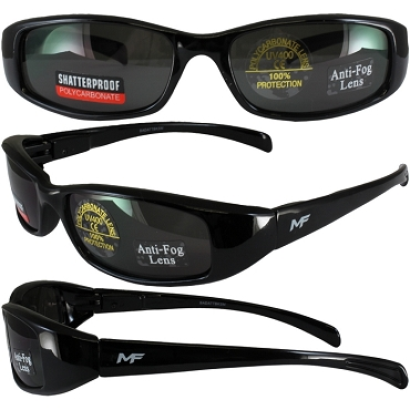 Low Profile Motorcycle Sunglasses Smoke Lenses