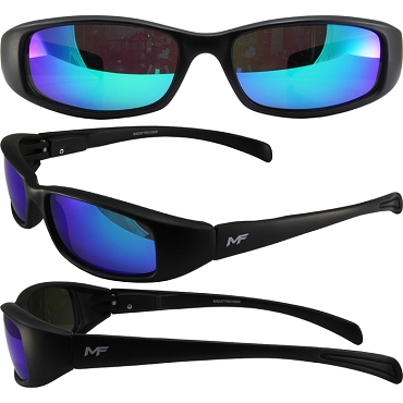 Low Profile Motorcycle Sunglasses Revo Green Lenses