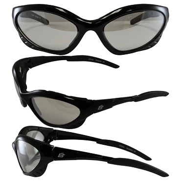 Motorcycle Sunglasses Clear Lenses Crow
