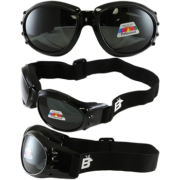 Sport Biker Goggles Polarized Smoke Lenses