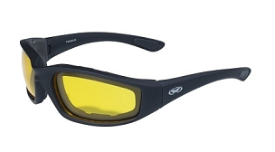 Motorcycle Sunglasses Yellow to Smoke Photochromatic Lenses