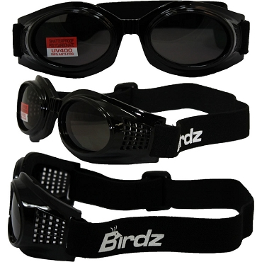 Anti-Fog Vented Motorcycle Goggles Smoke Lenses