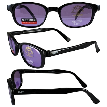 Motorcycle Sunglasses Purple Lenses Spring Hinges