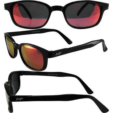 Motorcycle Sunglasses Revo Red Lenses Spring Hinges