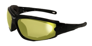 Biker Sunglasses Yellow to Smoke Photochromatic Lenses