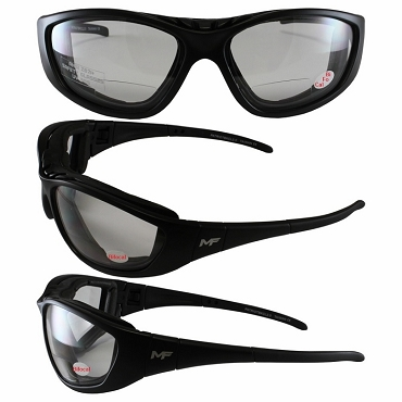 Clear Bifocal Motorcycle Sunglasses Goggles with Bifocals