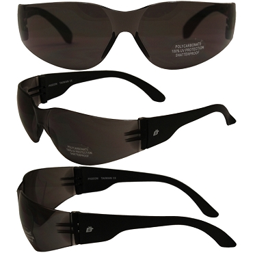 Motorcycle Sunglasses Smoke Lenses Pigeon