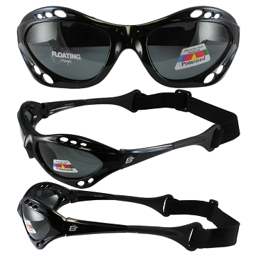 Seahawk Black Sunglasses Goggles Smoke Lenses
