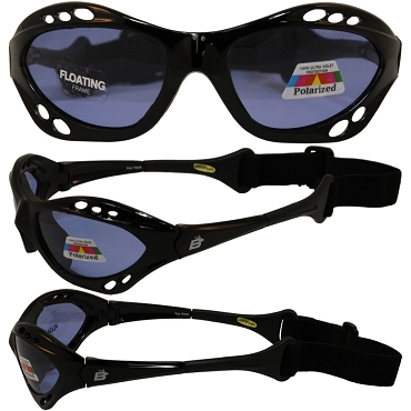 Motorcycle Sunglasses Blue Lenses with Strap