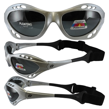 Seahawk Silver Sunglasses Goggles with Smoke Lenses