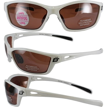 Motorcycle Sunglasses with Brown Mirror Lenses