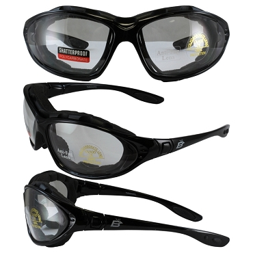Motorcycle Sunglasses Goggles Clear Lenses