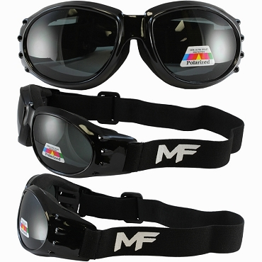 Vented Motorcycle Goggles Polarized Lenses