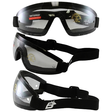 Vented Anti-Fog Skydiving Goggles Clear Lens