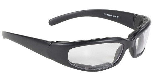Rally Wrap Sunglasses Foam Padded Clear Lens