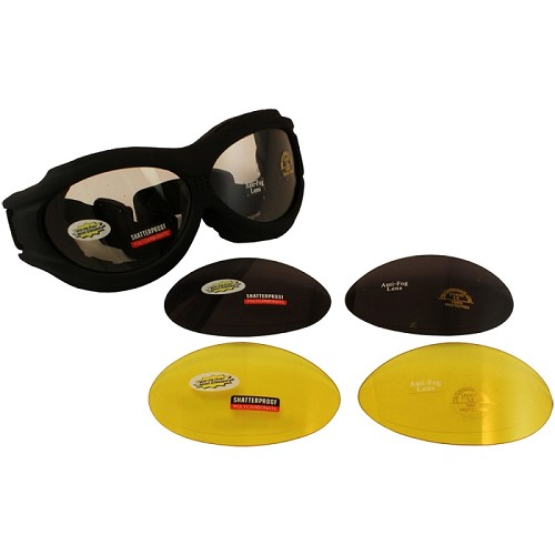 Fit Over Glasses Motorcycle Goggles Kit