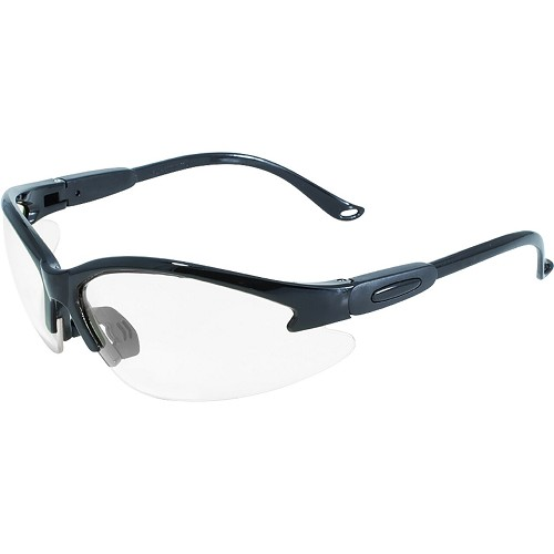 Contender Safety Glasses Black Frame Clear Lenses
