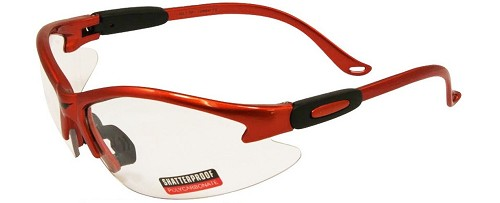 Cougar Safety Glasses Orange Frame Clear Lenses