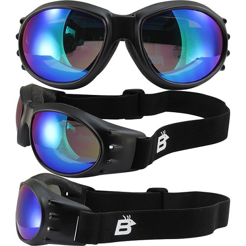 Eagle Vented Goggles with Green Mirror Lenses