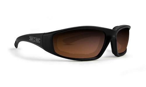 Epoch Foam Black Sunglasses Amber Lenses