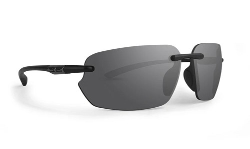 Epoch 8 Black Frameless Sunglasses Smoke Lenses