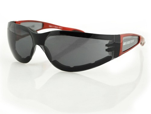 Bobster Shield II Sunglasses Red with Smoke Lenses