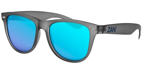 Sunglasses Gray Frame Smoke Blue Mirror Lens