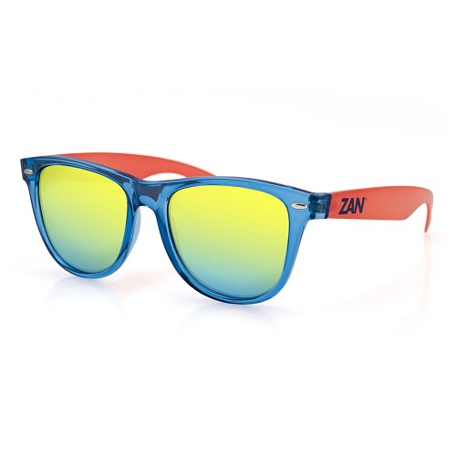 Sunglasses Blue Orange Frame Smoke Yellow Mirror Lens