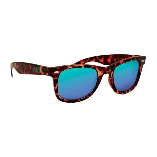 Sunglasses Tortoise Frame Smoked Green Mirror Lens
