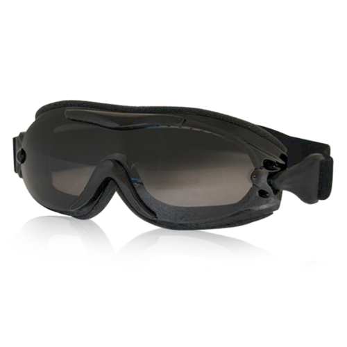 Fit Over Glasses Smoke Lens Motorcycle Goggles